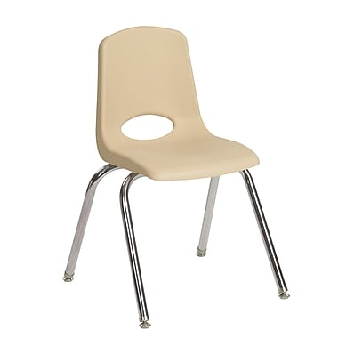 ECR4Kids® 14in Stack Chair-Chrome SD, 6/Pack