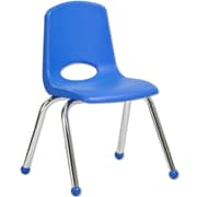 "ECR4Kids® 14""(H) Plastic Stack Chair with Chrome Legs & Ball Glides, 6/Pack"