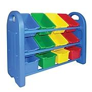 ECR4®Kids 3 Tier Storage Organizer With Bins, Blue