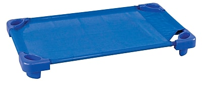 ECR4Kids® Stackable Toddler Assembled Kiddie Cot, Blue