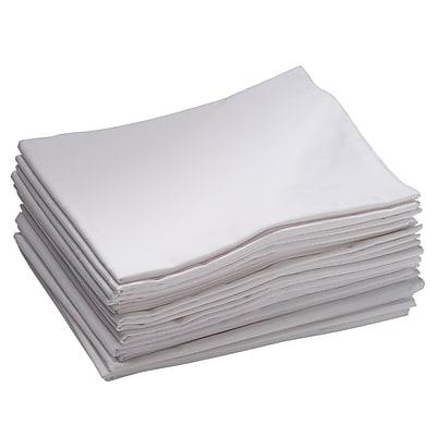 ECR4Kids® Standard Cot Sheet, White, 12/Pack