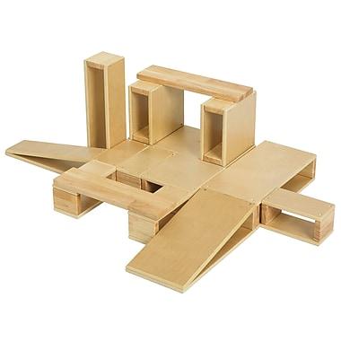 ECR4Kids® Wooden Hollow Block Set, 18-Piece