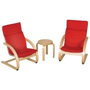 ECR4Kids® Bentwood Comfort Chair Set With Table, Natural