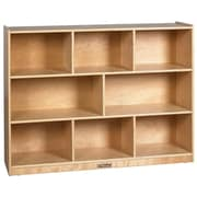 "ECR4Kids® 36"" 8-Compartment Birch Storage Cabinet, Natural"