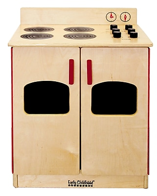 ECR4Kids® Play Kitchen Stove, Natural