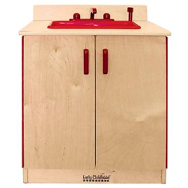 ECR4Kids® Play Kitchen Sink, Natural