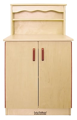 ECR4Kids® Play Kitchen Cupboard, Natural
