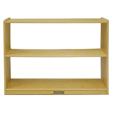 ECR4Kids® 2-Shelf Storage Cabinet without Back, Natural