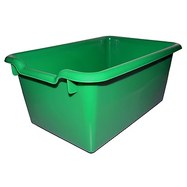 ECR4Kids Scoop Front Storage Bins - Green 10-Pack