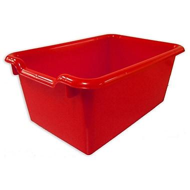 ECR4Kids Scoop Front Storage Bins - Red 10-Pack