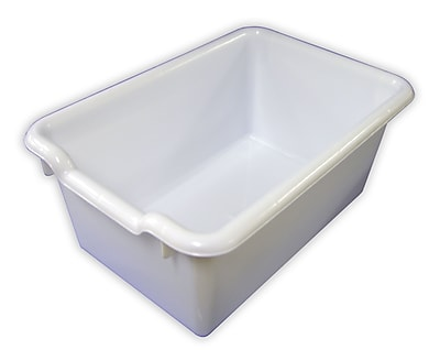 ECR4Kids Scoop Front Storage Bins - White 10-Pack