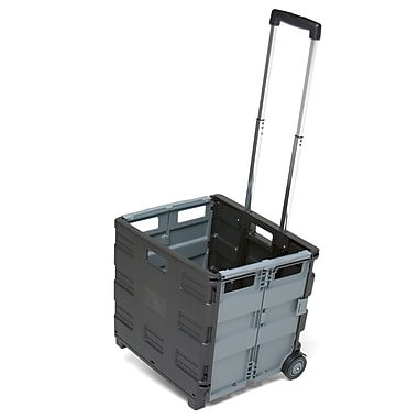 ECR4Kids® MemoryStor® Universal Rolling Cart, Black/Gray