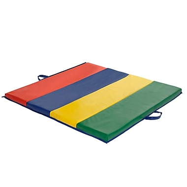 ECR4Kids® – Tapis de gymnastique en 4 sections, 4 pi x 4 pi