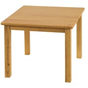 "ECR4Kids® 24"" x 24"" Square Hardwood Table With 18"" Legs, Natural"