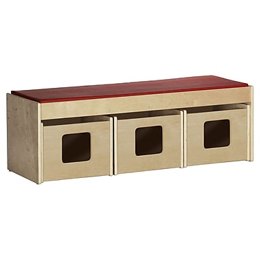 ECR4Kids® See and Store Wood Classroom Bench