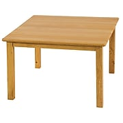 """ECR4®Kids 24"""" x 24"""" Square Hardwood Table With 22"""" Legs, Natural"""