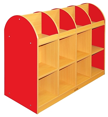 ECR4Kids® Colorful Essentials 2-Sided Standard Book Stand, Red