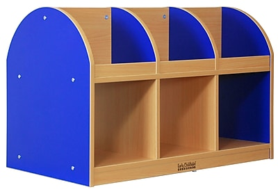 ECR4Kids® Colorful Essentials 2-Sided Toddler Book Stand, Blue