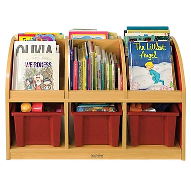 ECR4Kids® Colorful Essentials 2-Sided Toddler Book Stand, Red