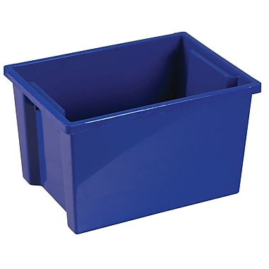 Large Storage Bin without Lid - Blue