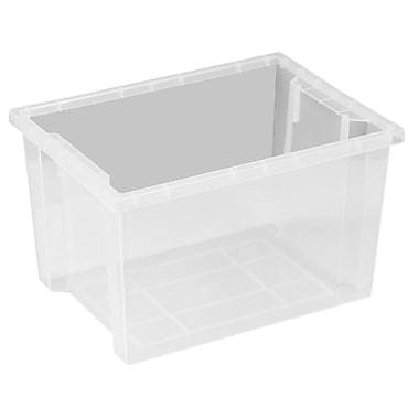 ecr4kids large storage bin without lid clear 6pack