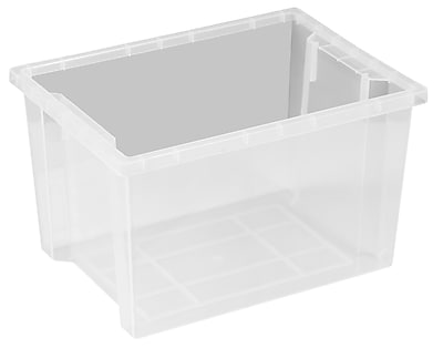 ECR4Kids Large Storage Bin without Lid - Clear 6-Pack