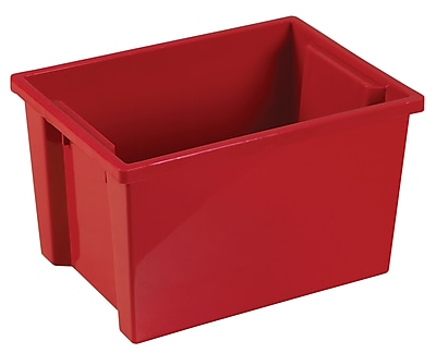 ECR4Kids Large Storage Bin without Lid - Red 6-Pack