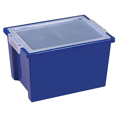 Large Storage Bins with Lid - Blue