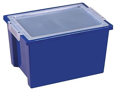 ECR4Kids Large Storage Bins with Lid - Blue 4-Pack