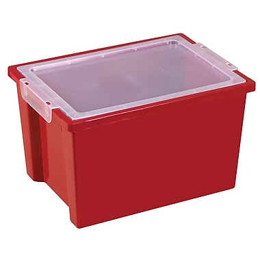 Large Storage Bins with Lid - Red