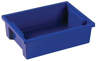 ECR4Kids Small Storage Bin without Lid - Blue 8-Pack