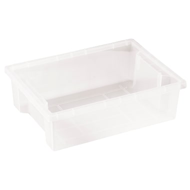 Small Storage Bin without Lid - Clear