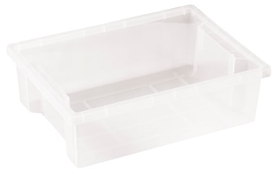 ECR4Kids Small Storage Bin without Lid - Clear 8-Pack