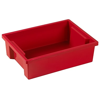 ECR4Kids Small Storage Bin without Lid - Red 8-Pack