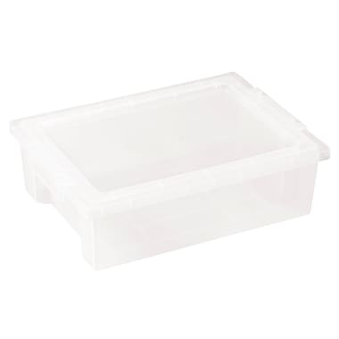 ECR4Kids Small Storage Bins with Lid - Clear 6-Pack