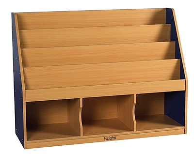 ECR4Kids® Colorful Essentials 3 Compartment Storage Book Display, Blue