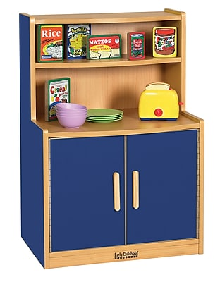 ECR4Kids® Colorful Essentials Play Kitchen Cupboard, Blue