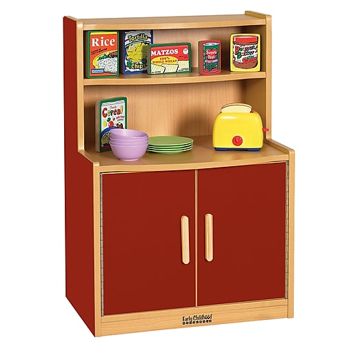 ECR4Kids® Colorful Essentials Play Kitchen Cupboard, Red