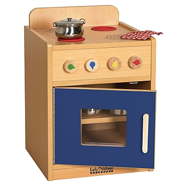 ECR4Kids® Colorful Essentials Play Kitchen Stove, Blue