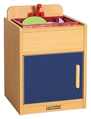 ECR4Kids® Colorful Essentials Play Kitchen Sink, Blue