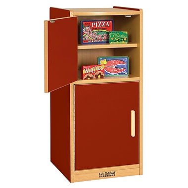 ECR4Kids® Colorful Essentials Play Kitchen Refrigerator, Red