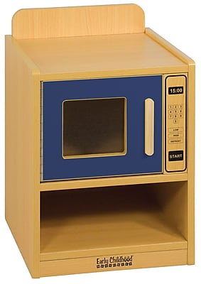 ECR4Kids® Colorful Essentials Play Kitchen Microwave, Blue
