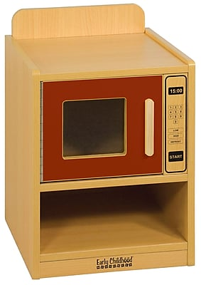 ECR4Kids® Colorful Essentials Play Kitchen Microwave, Red
