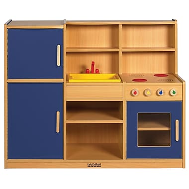 ECR4Kids® Colorful Essentials 4-in-1 Play Kitchen, Blue