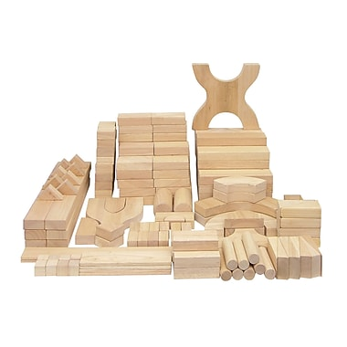 ECR4Kids® Solid Hardwood Building Block Set, 170-Piece
