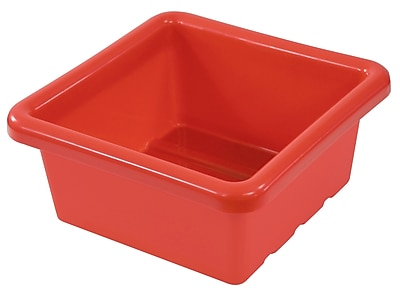 ECR4Kids Square Tray without Lid - Red 4-Pack