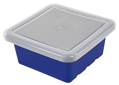 ECR4Kids Square Tray with Lid - Blue 4-Pack