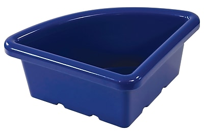 ECR4Kids Quarter Circle Tray without Lid - Blue 4-Pack
