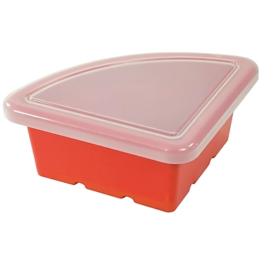 Quarter Circle Tray with Lid - Red