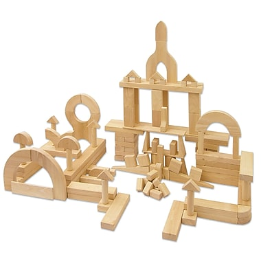 ECR4Kids® Solid Hardwood Building Block Set, 340-Piece
